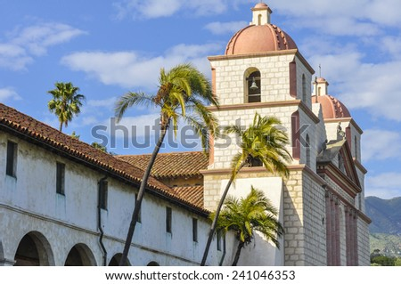 Old Mission Santa Barbara, California - stock photo