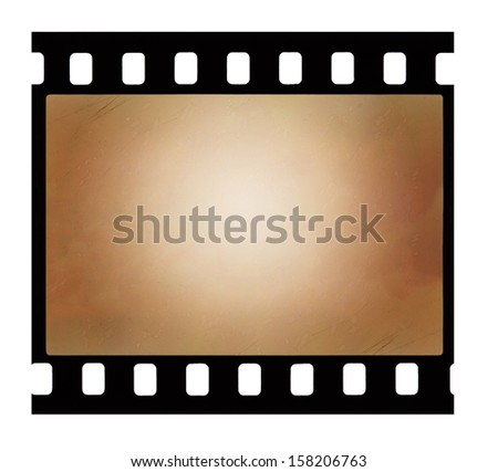 Old 35 mm film strip isolated on white backgroung - stock photo