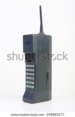 Old Mobile Phone - stock photo