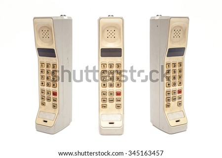 Old Mobile Phone on white background. - stock photo