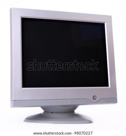 old monitor isolated - stock photo