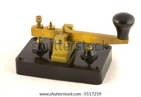 Old Morse Key - stock photo