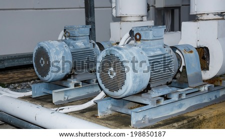 old Motor pump air conditioner. - stock photo