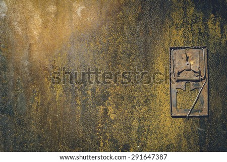 Old mousetrap - stock photo