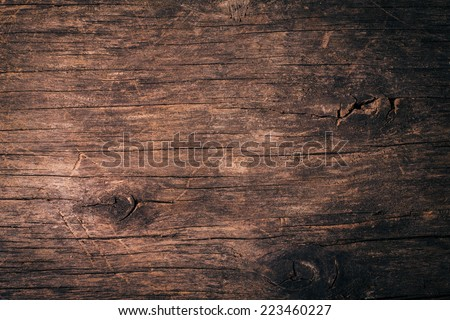 Old natural wooden shabby background close up - stock photo