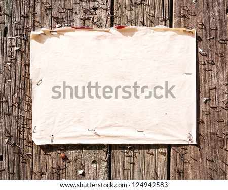 old note at a fence - stock photo