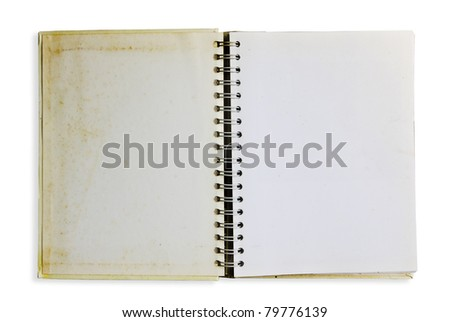 Old notebook isolate - stock photo