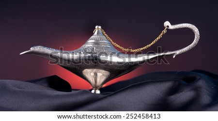 Old Oil Lamp From The Middle East - stock photo