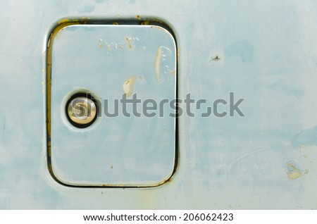 Old oil tank cover - stock photo