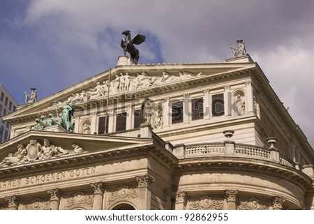old opera house in Frankfurt in Germany - stock photo