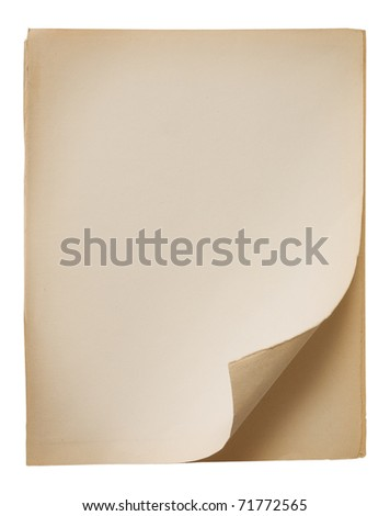 Old page of paper - stock photo