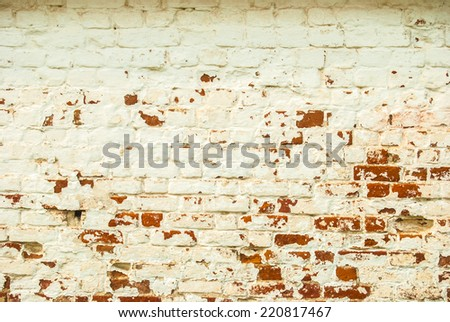 Old painted brick wall. Abstract background. - stock photo
