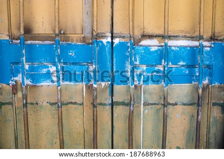 old painted gate - stock photo