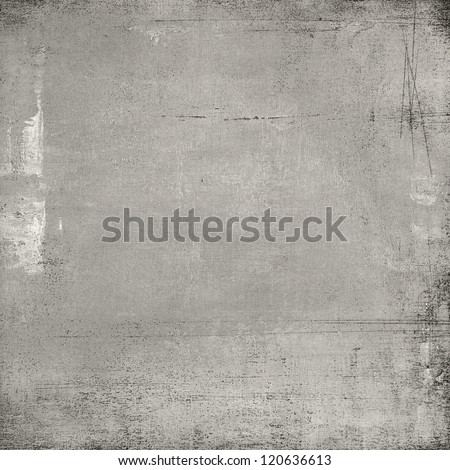 Old paper against grey textured background - stock photo
