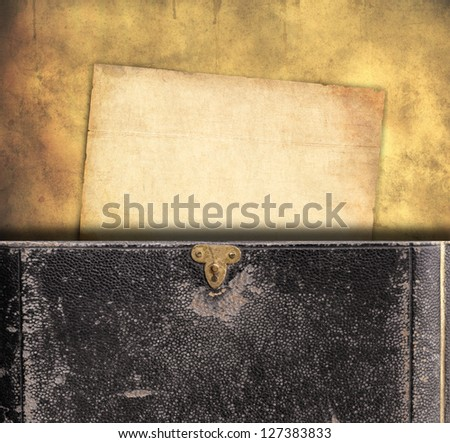 old paper and book background - stock photo