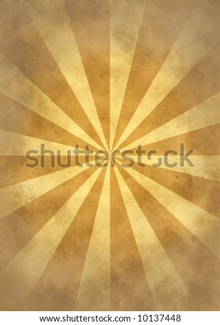 Old paper background texture with a burst - stock photo