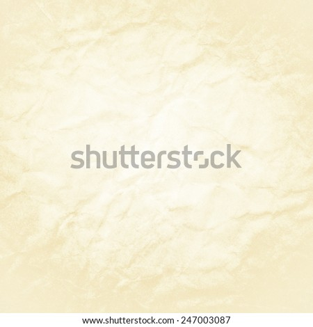 old paper background white beige coloring and vintage distressed texture, aged wrinkled or crinkled paper texture - stock photo