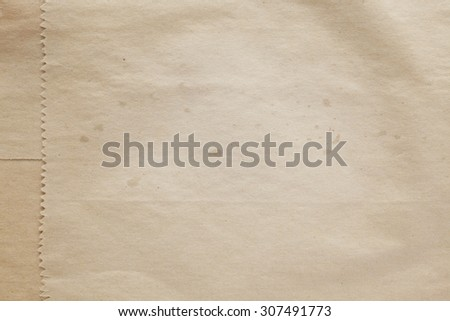 Old paper bag texture background - stock photo