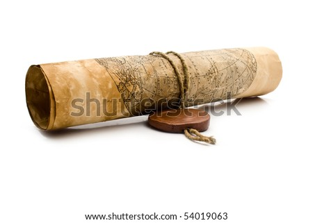 old paper on a white background for your illustrations - stock photo