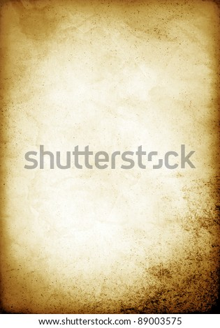 Old Paper Template - stock photo