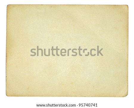 old paper texture on white - stock photo