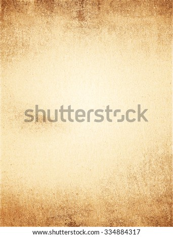 old paper texture, vintage over color background - stock photo