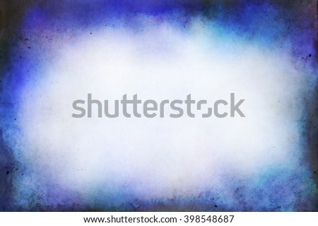 Old  paper texturei n blue tone  with vignette. - stock photo