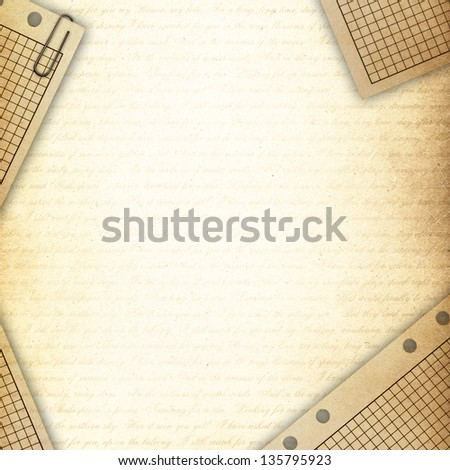 old paper ,vintage - stock photo