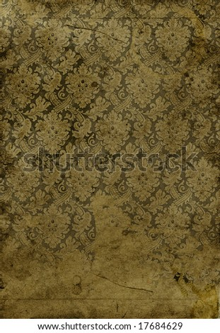 old paper with classic pattern - stock photo