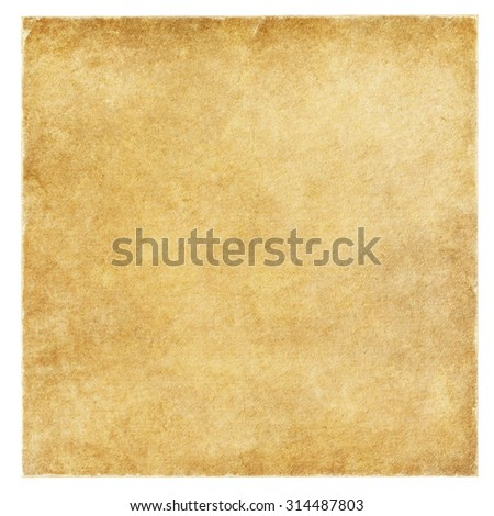 old paper with frayed edges isolated on the white. - stock photo