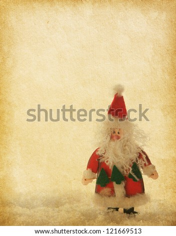 old paper with Santa Claus - stock photo