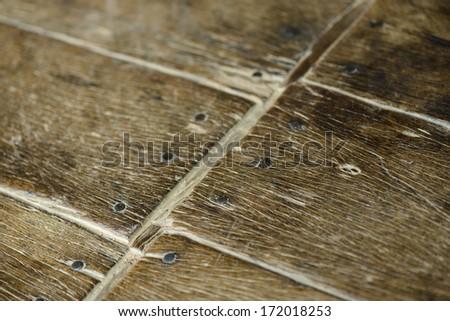 Old parquet detail - stock photo