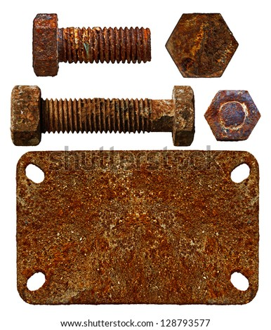 old parts of iron - stock photo