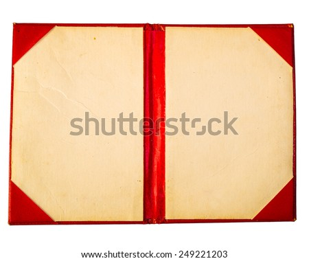 old passport cover - stock photo