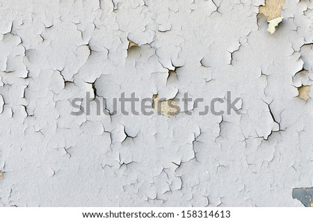 Old Peeling Painted Wall. Background - stock photo