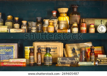old pharmacy - stock photo