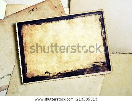 Old photo frame - stock photo