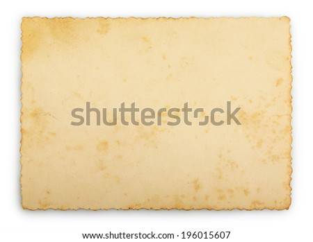 Old photo frame isolated - stock photo