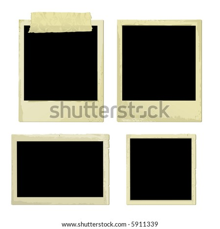 Old Photo Frames (also available vector version of this image in our gallery) - stock photo