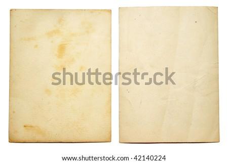 Old photo frames isolated on white - stock photo