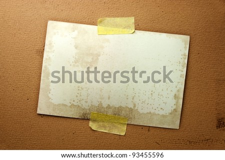 Old Photo Paper On Vintage Paper - stock photo