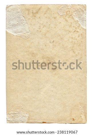 Old photo paper texture with stains and scratches - stock photo