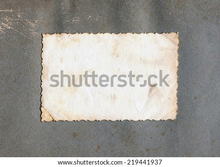 old photo print with a decorative border - stock photo