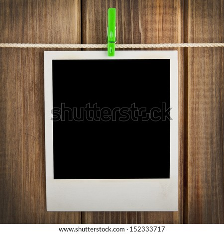 old photograph on a white background - stock photo