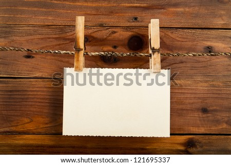 old photos on the background of wooden - stock photo