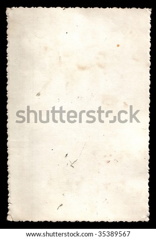 Old photos with a border isolated on a black background - stock photo