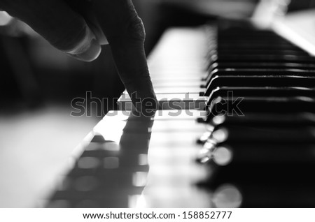 Old piano. - stock photo