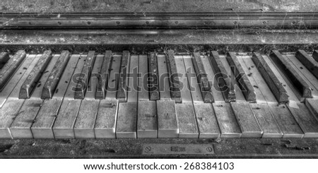 Old piano - stock photo