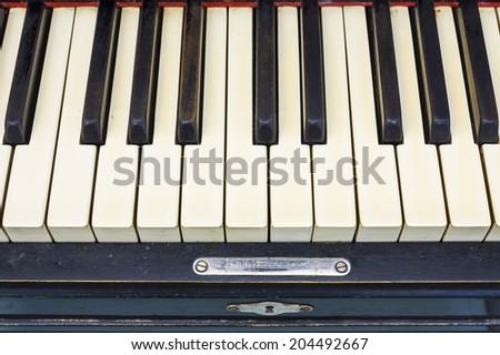 old piano keyboard - stock photo
