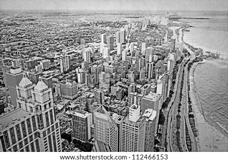 Old Picture Design - Chicago - stock photo